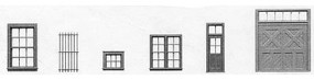 Tichy-Train Window & Door Assortment - pkg(200) HO Scale Model Railroad Building Accessory #8091