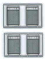 Tichy-Train Freight Door/Transom 4 pieces HO Scale Model Railroad Building Accessory #8125