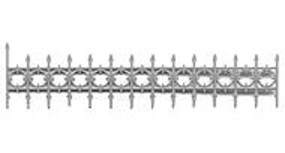 Tichy-Train 1.8 Iron Railing for Widows Walk (4) HO Scale Model Railroad Building Accessory #8148