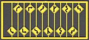 Tichy-Train Left & Right Road Path Warning Signs (12) HO Scale Model Railroad Road Accessory #8254