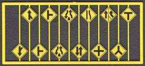Tichy-Train Road Path Warning Signs (12) HO Scale Model Railroad Road Accessory #8255