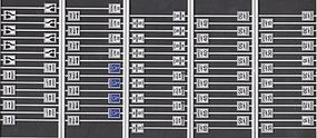 Tichy-Train Road Sign Assortment (21 diff. 80 Total) HO Scale Model Railroad Road Accessory #8264
