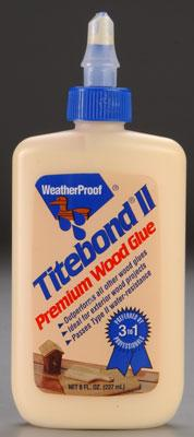 Titebond Wood Glue Titebond Water-Resistant Glue 8 oz -- Wood Glue -- #5003