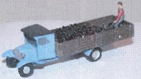 N-Scale-Arch 1929 Chevrolet Coal Delivery Truck Kit With Figure N Scale Model Railroad Vehicle #20028