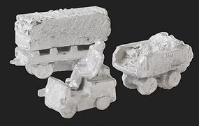 N-Scale-Arch Stone Train Kit (Cast Metal) Mine/Critter Loco, 3 Wagons N Scale Model Railroad Vehicle #20067