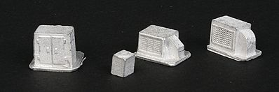 The N Scale Architect Roof HVAC (Air/Heating Unit) Assortment -- N Scale Model Railroad Building Accessory -- #20088