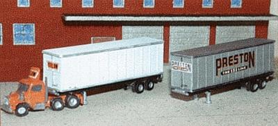 The N Scale Architect 40' Trailer or Containers with 5 Different Decal Sets -- Z Scale Model Railroad Vehicle -- #30013