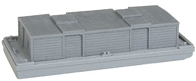 The N Scale Architect Covered Barge w/Separate Cover Kit (Resin) -- Z Scale Model Railroad Building -- #30054