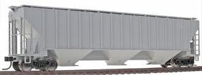 Trainman Thrall 4750 3-Bay Covered Hopper Undecorated HO Scale Model Train Freight Car #20000128