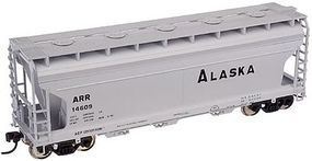 Trainman 3560 Centerflow Covered Hopper Alaska Railroad HO Scale Model Train Freight Car #20001135