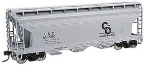 Trainman 3560 Centerflow Covered Hopper Chesapeake & Ohio HO Scale Model Train Freight Car #20001139