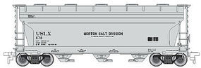 Trainman 3560 Centerflow Covered Hopper Morton Salt Division HO Scale Model Train Freight Car #20001145