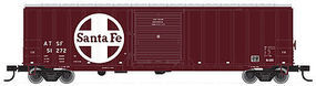 Trainman ACF(R) 50 6 Boxcar Santa Fe #51291 HO Scale Model Train Freight Car #20001831