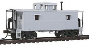 Trainman C&O-Style Steel Center-Cupola Caboose Undecorated HO Scale Model Train Freight Car #20002410