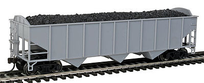 Atlas Trainman 70 Ton 3-Bay Hopper Undecorated Arch -- HO Scale Model Train Freight Car -- #20003010