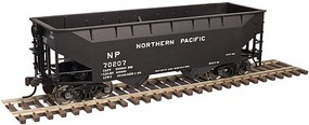 Trainman 2-Bay Offset-Side Hopper w/Flat Ends - Ready to Run Northern Pacific #70390