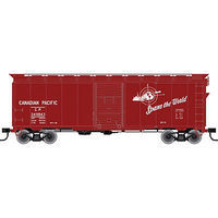 Trainman 40 Single-Door Boxcar Kit Canadian Pacific #249799 HO Scale Model Train Freight Car #21000048