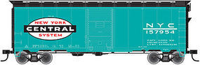 Trainman 1937 AAR 40 Single-Door Boxcar New York Central HO Scale Model Train Freight Car #21000062