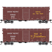 Trainman 40 Single-Door Boxcar - Kit Union Pacific #188326 HO Scale Model Train Freight Car #21000064