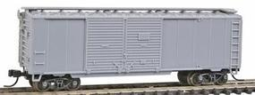 Trainman 40 Double Door Boxcar - Ready to Run - Undecorated N Scale Model Train Freight Car #38800