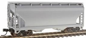 Trainman 2-Bay Centerflow Hopper - Undecorated N Scale Model Train Freight Car #3900