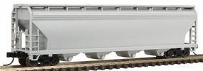 Trainman ACF(R) 5250 4-Bay Covered Hopper Undecorated N Scale Model Train Freight Car #3950