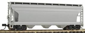 Trainman ACF(R) 3560 Center Flow Covered Hopper Undecorated N Scale Model Train Freight Car #39900