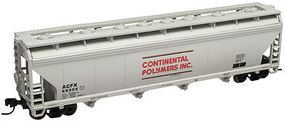 Trainman 4-Bay Covered Hopper Continental Polymers #59353 N Scale Model Train Freight Car #50000633