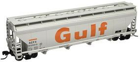 Trainman ACF(R) 5250 4-Bay Covered Hopper Gulf ACFX #52900 N Scale Model Train Freight Car #50000644