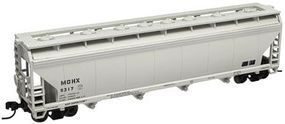 Trainman 4-Bay Covered Hopper Monsanto MCHX #5317 (gray) N Scale Model Train Freight Car #50000650