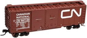 Trainman 40 Double Door Boxcar Canadian National 587166 N Scale Model Train Freight Car #50001272