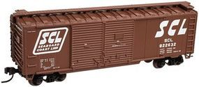 Trainman 40 Double Door Boxcar Seaboard Coast Line #822632 N Scale Model Train Freight Car #50001283