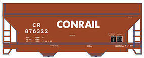 Trainman 2-Bay Centerflow Hopper Conrail #876399 N Scale Model Train Freight Car #50001301