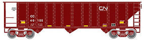 Trainman 90-Ton 3-Bay Hopper Canadian National CC #40122 N Scale Model Train Freight Car #50001330