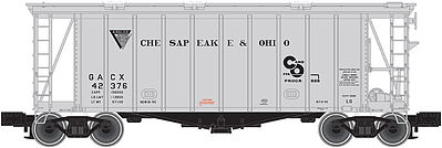 Atlas Trainman 40' Airslide Covered Hopper Chesapeake & Ohio -- N Scale Model Train Freight Car -- #50001442