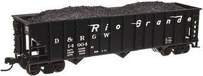 Trainman 90-Ton 3-Bay Hopper Denver & Rio Grande Western N Scale Model Train Freight Car #50001849