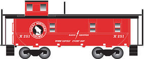 Trainman Cupola Caboose Great Northern #X251 N Scale Model Train Freight Car #50002127