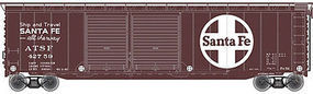 Trainman 50 Double Door Boxcar ATSF #42759 N Scale Model Train Freight Car #50002254