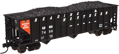 Atlas Trainman 90 Ton Hopper Reading & Northern #7414 -- N Scale Model Train Freight Car -- #50002379