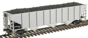 Trainman AAR 70 Ton 3-Bay Open Hopper Undecorated HO Scale Model Train Freight Car #927