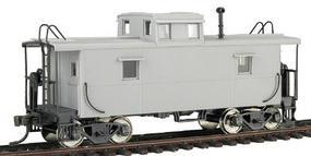 Trainman C&O-Style Steel Center-Cupola Caboose Undecorated HO Scale Model Train Freight Car #945