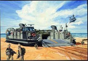 Trumpeter USMC Landing Craft/Air Cushion Plastic Model Military Ship Kit 1/144 Scale #00107