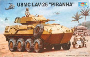 Trumpeter USMC LAV-25 Piranha -- Plastic Model Military Vehicle Kit -- 1/35 Scale -- #00349
