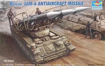 Trumpeter Russian SAM6 Anti-Aircraft Missile with Launcher -- Plastic Model Kit -- 1/35 Scale -- #00361