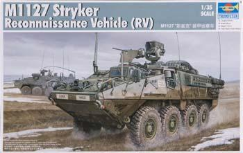 Trumpeter M1127 Stryker Recon Vehicle (RV) -- Plastic Model Military Kit -- 1/35 Scale -- #00395