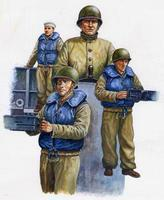 Trumpeter WWII US Navy LCM Crew Figure Set (3) Plastic Model Military Figure 1/35 Scale #00408