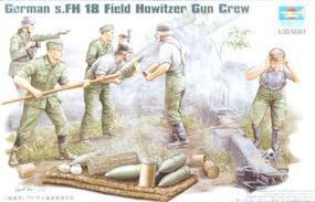 Trumpeter German Field Howitzer Firing Crew Figure Set (5) Plastic Model Kit 1/35 Scale #00425
