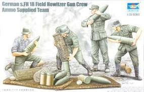Trumpeter German Field Howitzer Carrying Crew Figure Set (4) Plastic Model Kit 1/35 Scale #00426