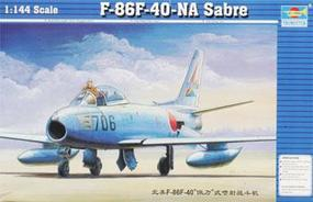 Trumpeter F86F40 Saber Jet Plastic Model Airplane 1/144 Scale #01321