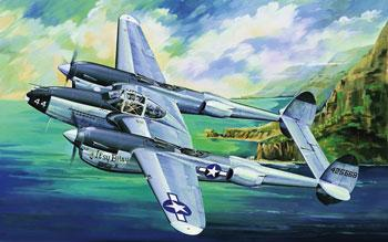 Trumpeter P38L-5-LO Lightning Fighter -- Plastic Model Airplane -- 1/32 Scale -- #02227